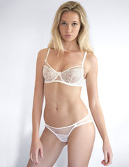 Weiße Bridal Lace Knickers | Mimi Holliday Sexy Dessous