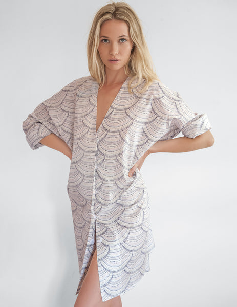 Soleil Liberty Beach Shirt | Mimi Holliday Luxury Beach Dresses
