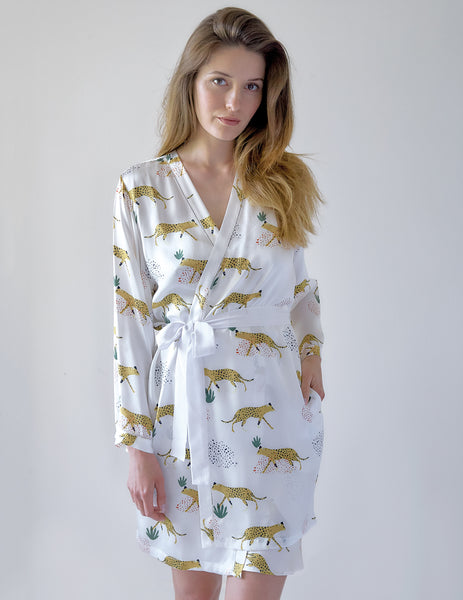 Jaguar Silk Dressing Gown