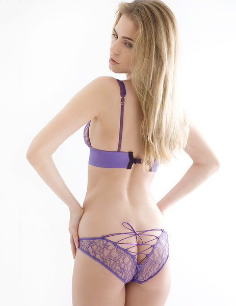 Damaris Persefone Purple Corset Knickers | Sexy Lingerie