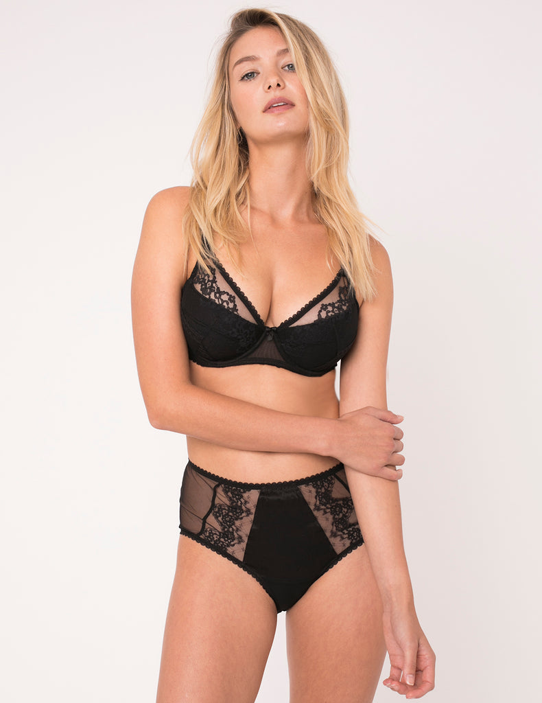 Orchid Noir High Waisted Knickers