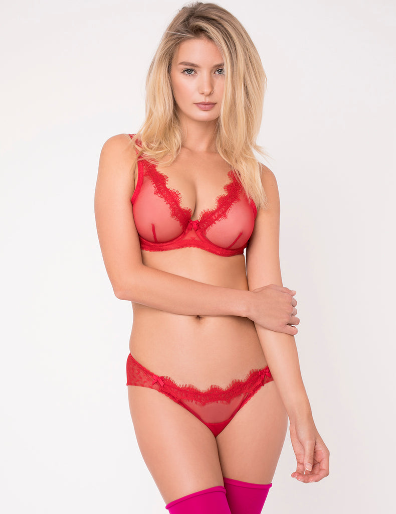 Rote Spitzenslip Knickers | Mimi Holliday Sexy Dessous