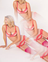 Strawberry Split Tulle and Silk PERFECT Push-Up Bra A-F CUP