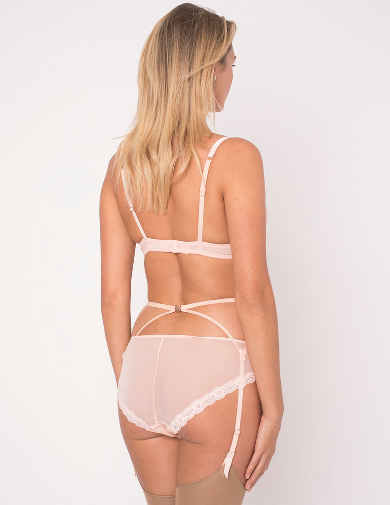 Camelia Lace & Silk Polstret Push-Up BH