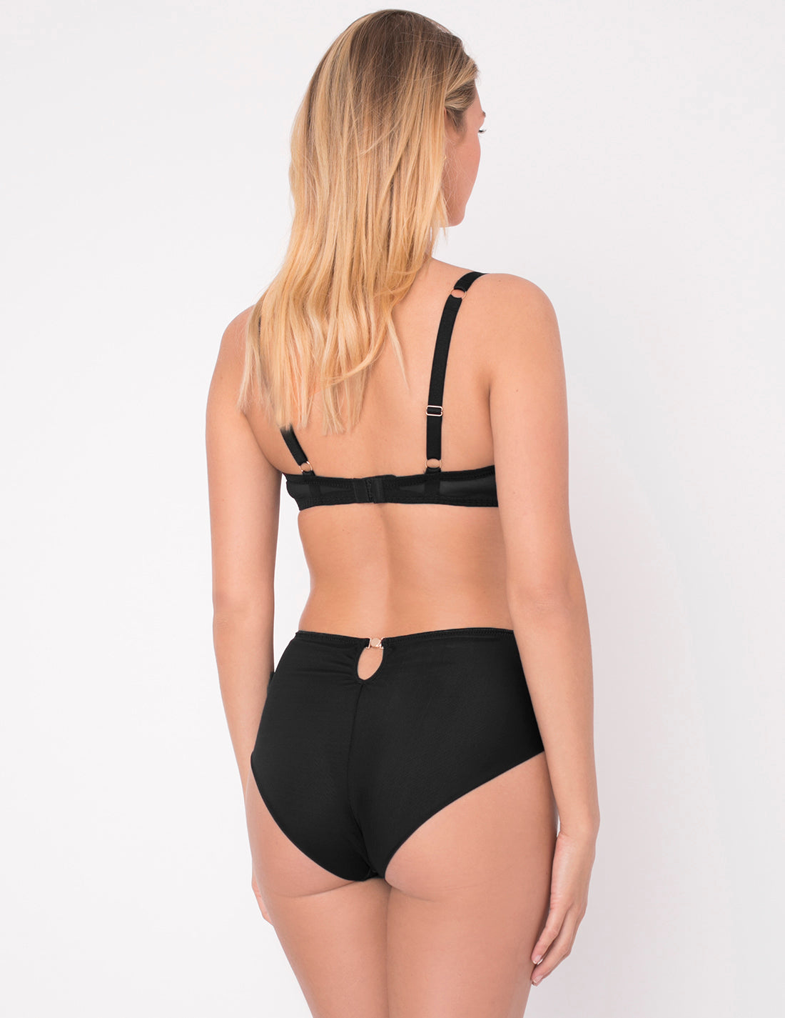 Bisou Bisou Noir Smooth High-Waisted Knickers