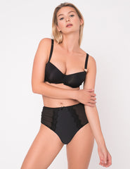 Bisou Bisou Noir Glatte High-Waisted Knickers