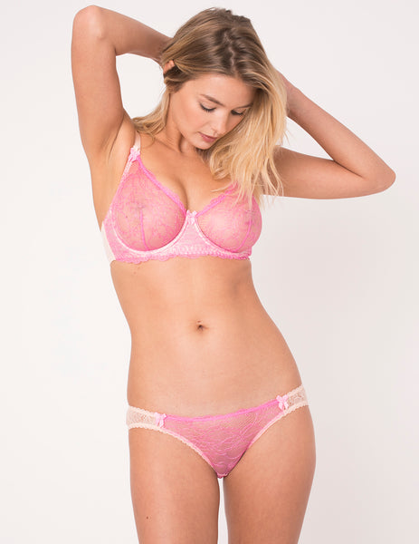 Pink Lace Brief Knickers | Mimi Holliday Sexy Lingerie