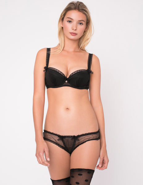 Truth Or Dare Noir Pehmustettu Push Up Bra