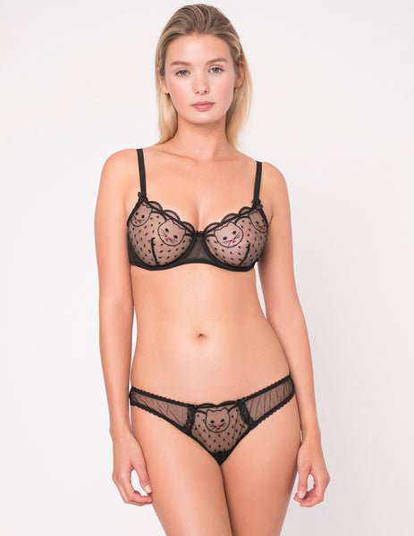 Reggiseno Comfort Kitty Goodnight in seta e pizzo