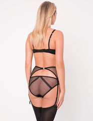 Brief Knickers con ricamo in pizzo nero e gatto - Mimi Holliday Designer Lingerie