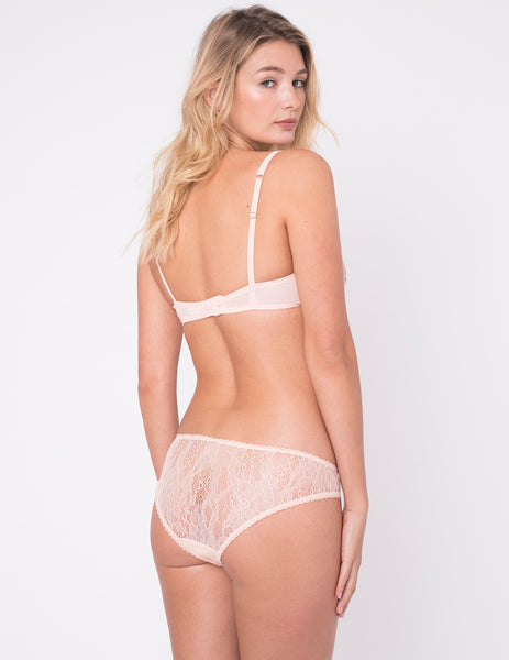 Peach Lace Brief Knickers | Mimi Holliday Sexy Undertøy