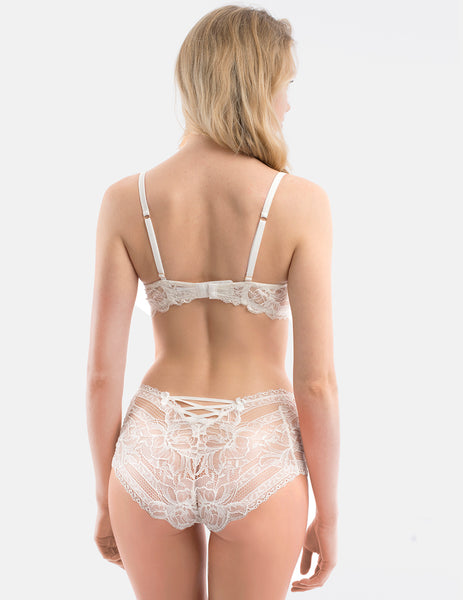 Hvit blomstermotiv high waist knickers | Mimi Holliday Sexy Undertøy