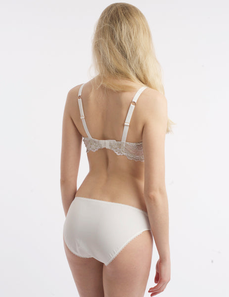 White & Gold Lace Brief Knickers | Mimi Holliday Designer Lingerie