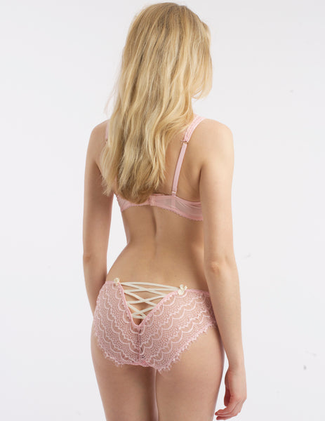 Pink Lace Brief Corset Knickers | Mimi Holliday Designer Lingerie
