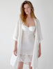 Hvit silke kjole | Mimi Holliday Luxury Nightwear