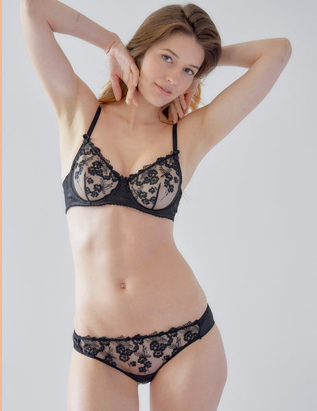 Glowtini Lace and Silk Comfort Bra