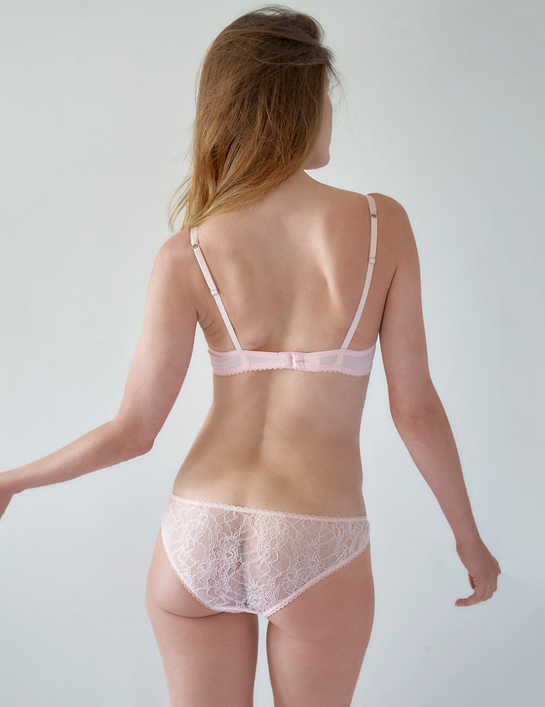 Soutien-gorge push-up rembourré en dentelle rose | Mimi Holliday Sexy Lingerie