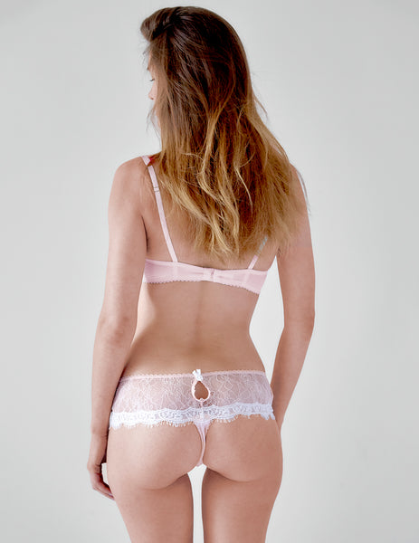 Pink Lace Boyshort Knickers | Mimi Holliday Luxury Lingerie