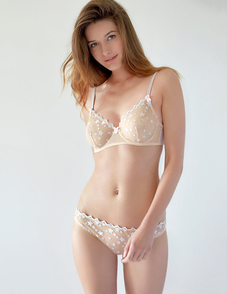 Nude Lace Stars Lyhytnousut | Mimi Holliday Sexy Lingerie