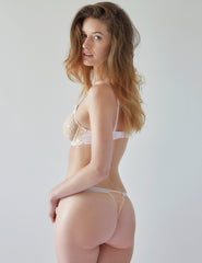 Nude Lace Stars Tanga | Mimi Holliday Luxus Dessous