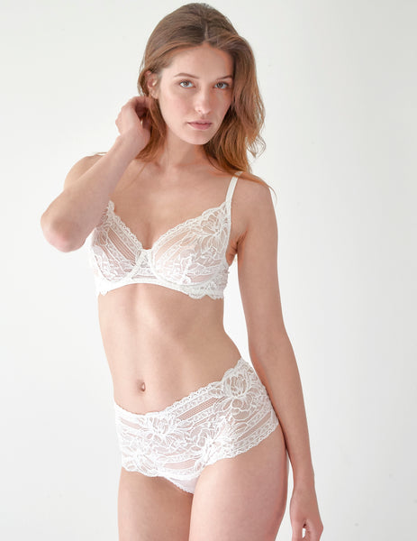 White Floral Lace Comfort BRa | Mimi Holliday Designer Lingerie