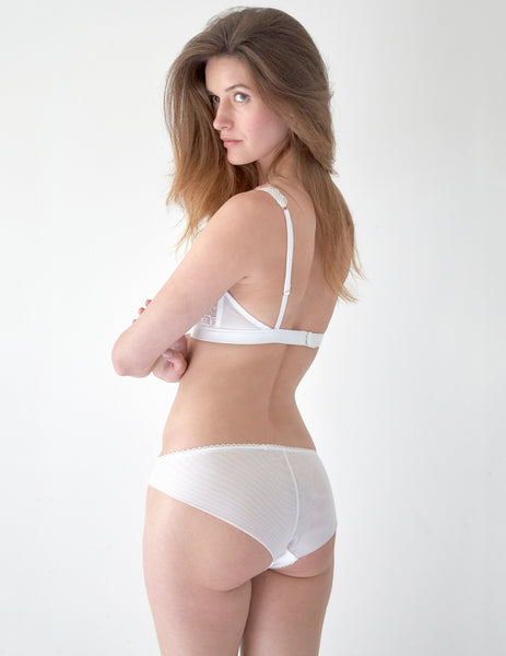 White Floral Lace Brief Knickers | Mimi Holliday Sexy Lingerie