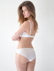 White Lace Triko Triangle Bra. | Mimi Holliday Designer Lingerie
