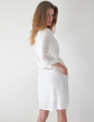 White Silk Dressing Gown | Mimi Holliday Sexy Nightwear