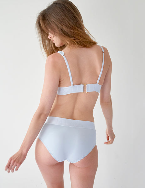 Laço azul Comfort Brief Knickers | Mimi Holliday Designer Lingerie