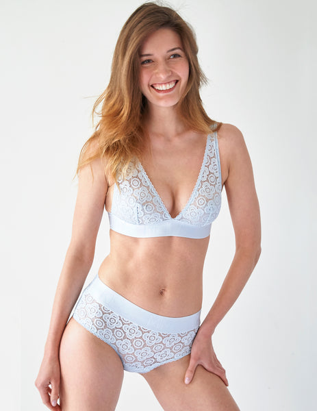 Blue Lace Triangle Bra | Mimi Holliday Designer Undertøj