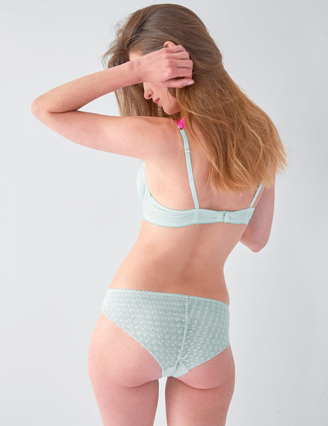 Aqua Pink Lace Brief Knickers | Mimi Holliday Luksus Undertøj