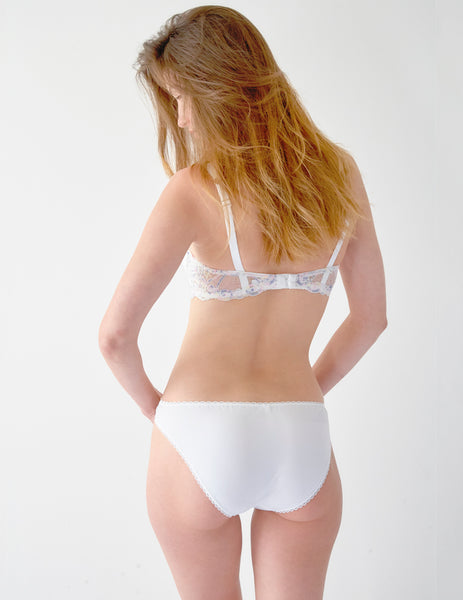 White Lace Brief Knickers | Mimi Holliday Luxury Lingerie