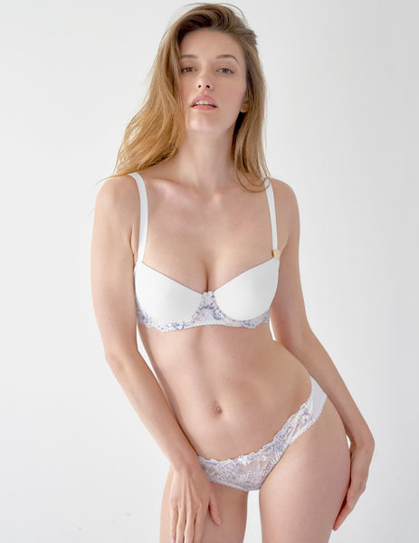 White Lace Moulded Balcony Bra | Mimi Holliday Designer Lingerie