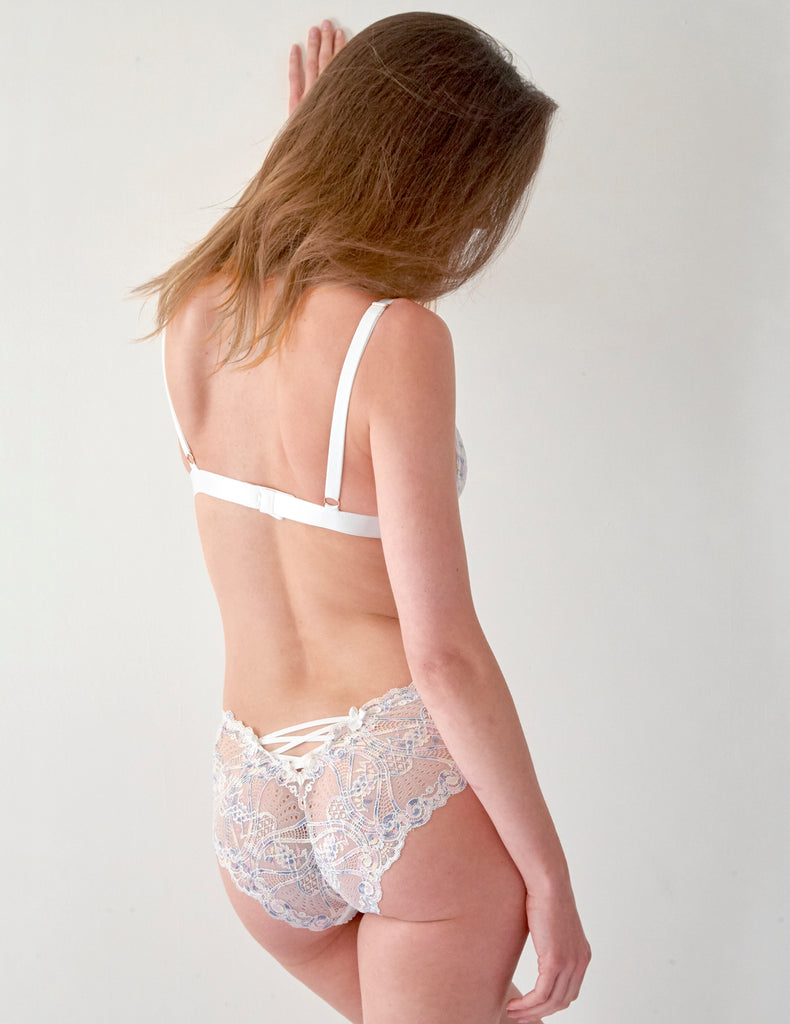 White Lace Triangle Bra | Mimi Holliday Sexy Lingerie
