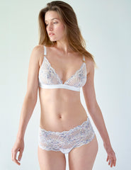 White Blonde High Waisted Knickers | Mimi Holliday Sexy Undertøy