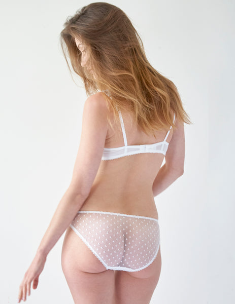 White Lace Seashell Brief Knickers | Mimi Holliday Sexy Undertøj