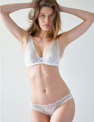 White Lace Seashell Brief Knickers | Mimi Holliday Designer Lingerie