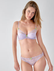Lilac Lace Brief Knickers | Mimi Holliday Sexy Undertøy