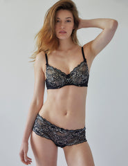 Black Floral Lace High Waist Knickers | Mimi Holliday Sexy Lingerie
