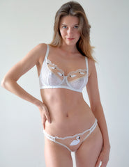 White Lace Swan Large Cup Maxi Bra | Mimi Holliday Designer Lingerie