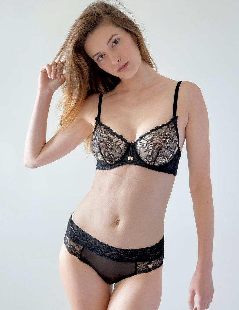 Black Lace Comfort Bra | Mimi Holliday Sexy Lingerie