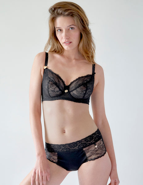 Schwarzer Spitzen Big Cup BH | Mimi Holliday Luxus Dessous