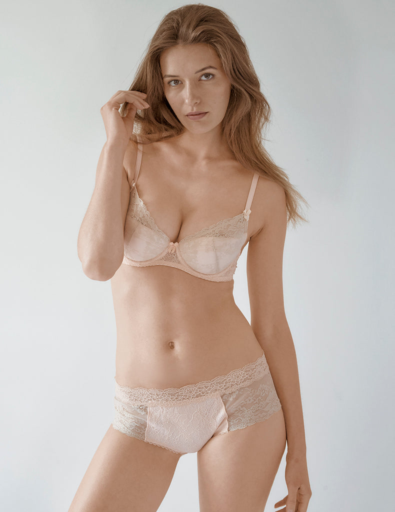 Nude Lace Short Knickers | Mimi Holliday Sexy Lingerie