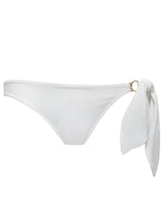 Cecile White Bikini Bottom | Maillot de bain de luxe Mimi Holliday