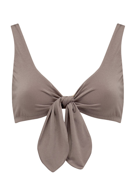 Taupe Bikini Top | Mimi Holliday Luxury Swimwear