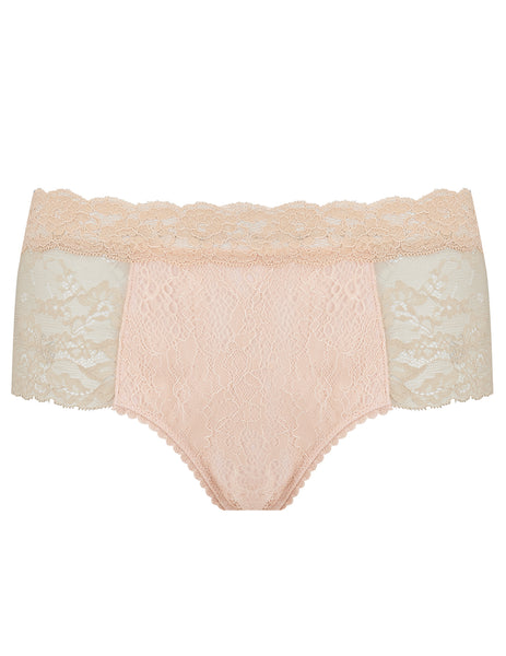Nude Lace Short Knickers | Mimi Holliday Lingerie de luxo