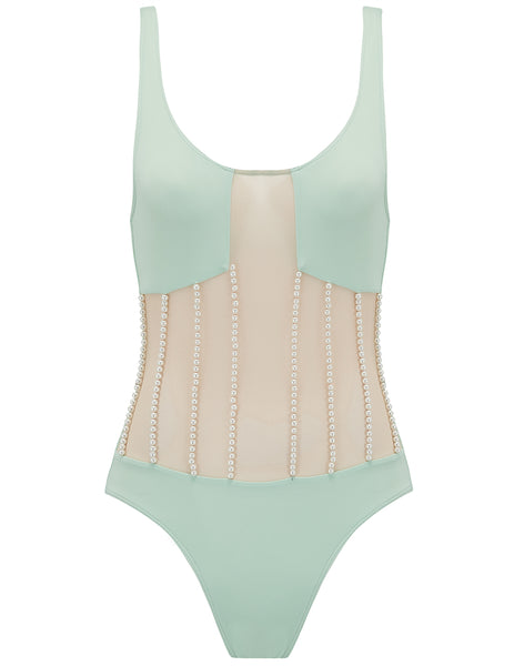 Heliae Mint & Pearl Swimsuit - Progettato da 5pm Swimwear