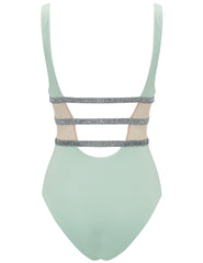 Asteriae Mint & Silver Sparkle Swimsuit - Disegnato da 5pm Swimwear
