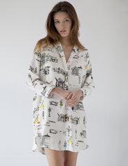Paris Nightshirt Bianco | Mimi Holliday Luxury Nightwear