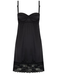 Slip in seta nera di seta nera Mimi Holliday Luxury Nightwear